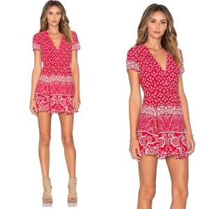 {Lovers + Friends} Red Floral Cassidy Dress
